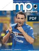 Match Program - Sampdoria vs Parma 04-10-09