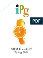 IPG Spring 2014 STEM K-12 Titles