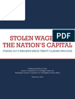 Stolen Wages in the Nation's Capital
