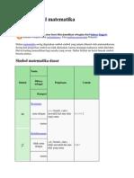 Daftar Simbol Matematika