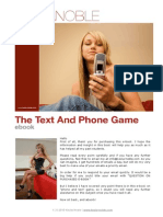 Kezia Noble - Text and Phone Game