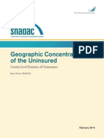 Geographic Concentration of the Uninsured