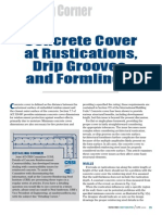 Article - Concrete Cover at Rustications, Drip Grooves, And Formliners - CRSI
