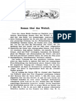 Goethe, notes on the Roman über das Weltall