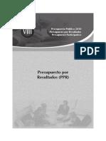 Presupuesto Por Resultados - Ppr 2010