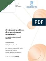 Droits des travailleurs dans une économie mondialisée -  Étude établie à la lumière du Droit social marocain