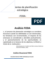 Herramienta de planificación estratégica FODA