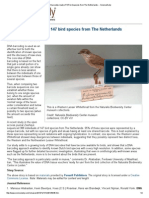 dna barcodes made of 147 bird species from the netherlands -- sciencedaily