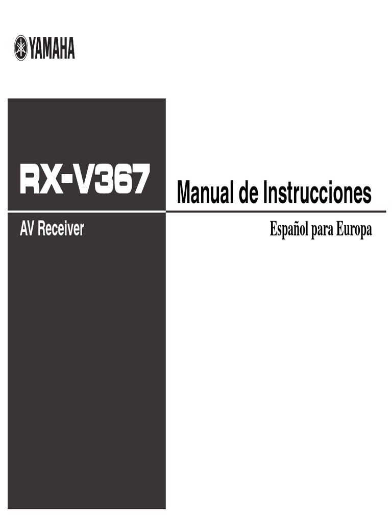 rx v367 manual spanish1 rh es scribd com