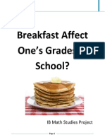 does eating breakfast affect one grades trial final