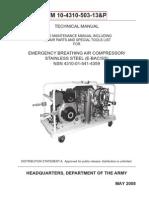 TM 10-4310-503-13P EMERGENCY BREATHING AIR COMPRESSOR NSN 4310-01-541-4359