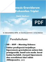 Hiperemesis Gravidarum Pada Kehamilan Triplet