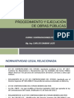 OJO-PROCEDIMIENTO Y EJECUCIÓN DE OBRAS PÚBLICAS