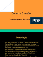 Do mito à razão Site Vestibular