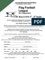 2014 Youth Flag Football Registration