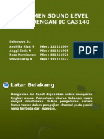 Instrumen Sound Level Meter Dengan Ic Ca3140