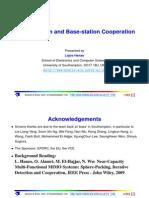 Base station cooperation