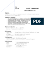 Fresher Testing Resume Template Websites Software Testing