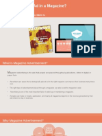 Presentation of How to Place Ads in a Magazine