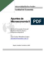 Juan Mendieta Notas de Microeconomia