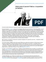 Bvoltaire.fr-un Courageux Journaliste Pose Laurent Fabius La Question Qui Tue Boulevard Voltaire