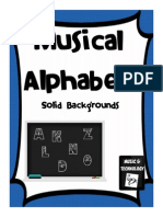 Solid Background Musical Alphabet Posters Large