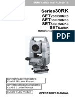 Manual Sokkia Series 30rk Set230rk-Rk3 Set330rk-Rk3 Set530rk-Rk3 Set630rk En