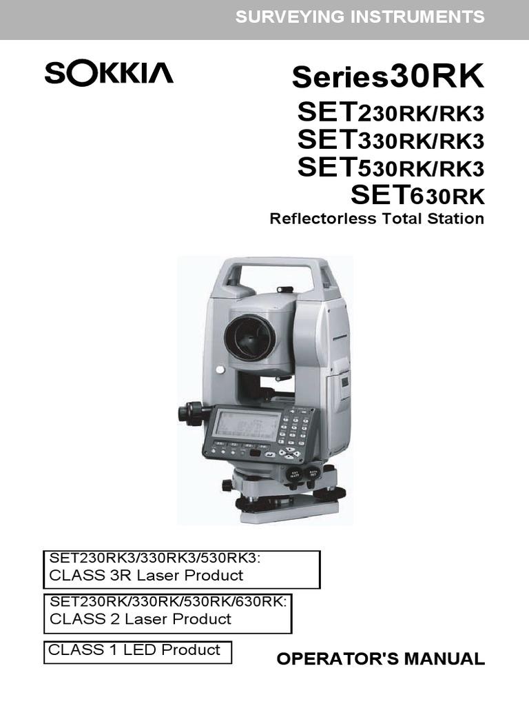 manual sokkia series 30rk set230rk rk3 set330rk rk3 set530rk rk3 rh scribd com Sokkia CX 105 sokkia set3x manual setup job