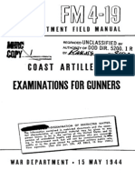 FM 4-19 Examinations for Gunners 1944