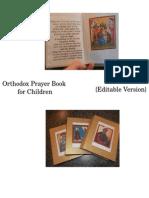 {Editable} Orthodox Prayer Book for Children