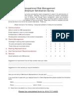 ORM Employer Survey 09