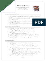 2014 Media Specialist Resume