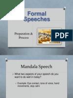 formal speeches