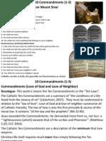 Commandments (1 to 3)