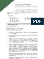 2009-03-24 Regular Agenda Session Minutes