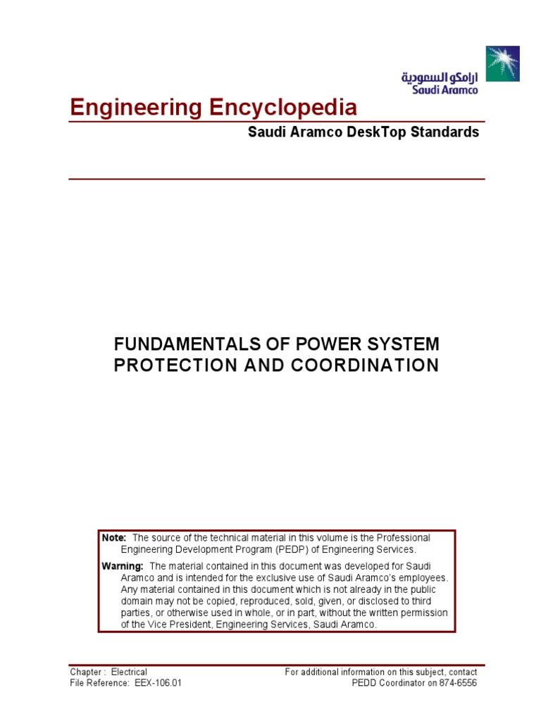 Fundamentals Of Power System Protection And Coordination