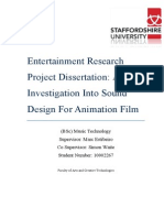 Entertainment Research Project Dissertation