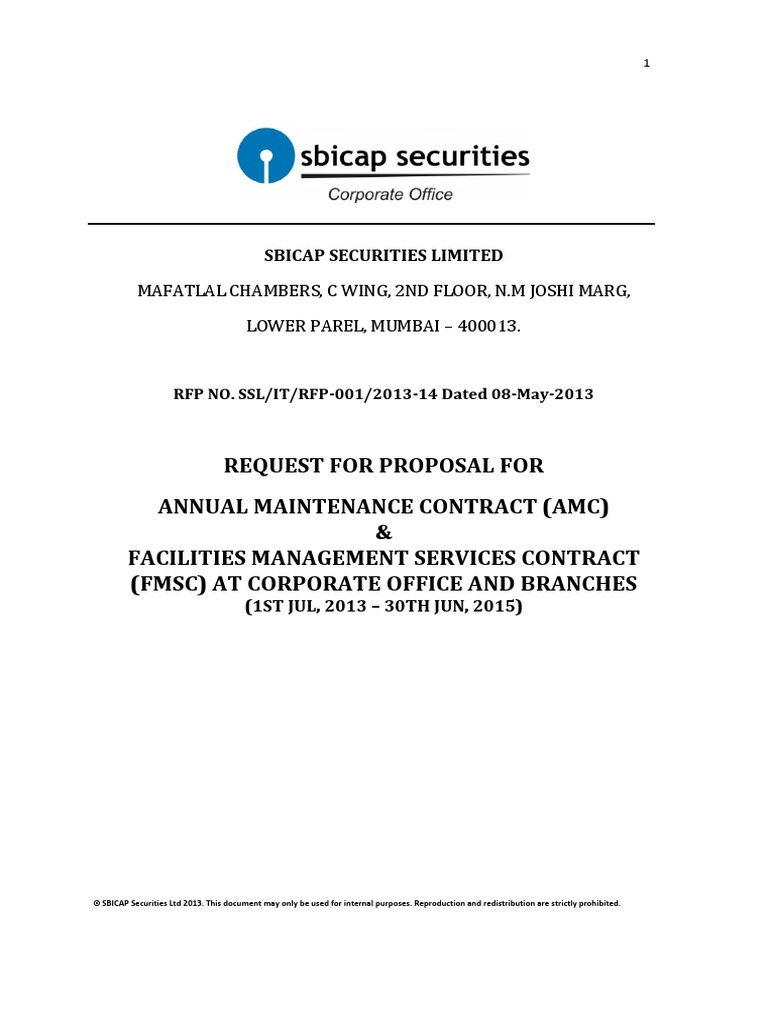 Rfp For Amc And Fmsc Jul2013 Jun2015 Law Of Agency Request For