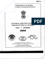 General Specs for Electrical Works--CPWD