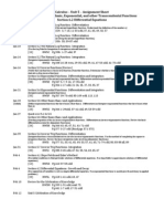 Calculus Unit 5 Assignment Sheet