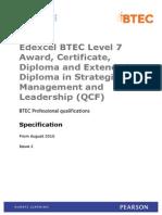 BTEC Level 7