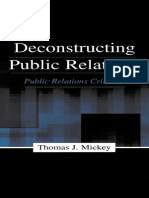 Deconstructing PR [Thomas Mickey]