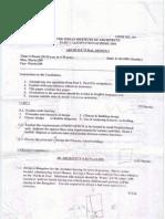 Architectural  Design  question paper Dec 2009