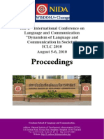 ICLC Conference 2010 Proceedings