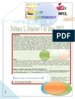Journal of Inquiry in Design Pedagogy (JIDEP) Journal Release Vol. 1.1 June 2013-Abstracts Illustrated