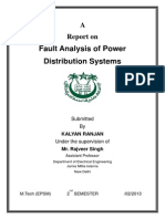 A Report on Fault Analysis of Power Distribution Systems