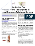 Relationship Advice For Women From The Experts at LoveRomanceRelationship.com