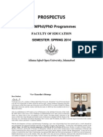 Prospectus-Faculty of Education