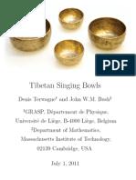 Tibetan Singing Bowls - Denis Terwagne and John W.M. Bush
