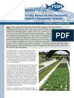 Commercial Facility Based on the University of the Virgin Island's Aquaponic System
